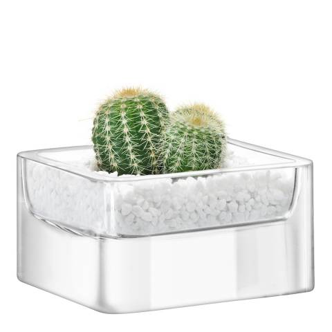 LSA Set of 2 Clear Modular Containers 10x5cm