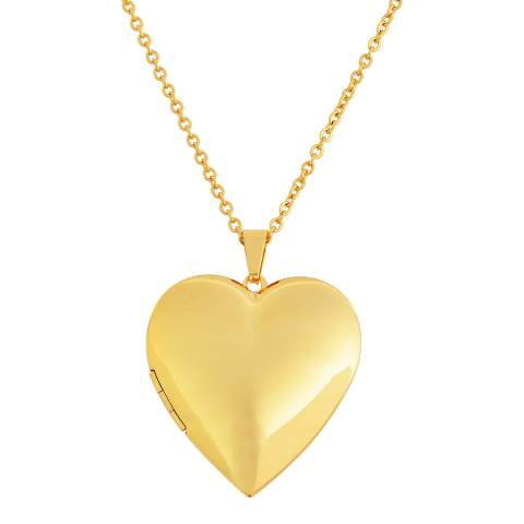 Chloe Collection by Liv Oliver 18K Gold Plated Heart Locket Necklace