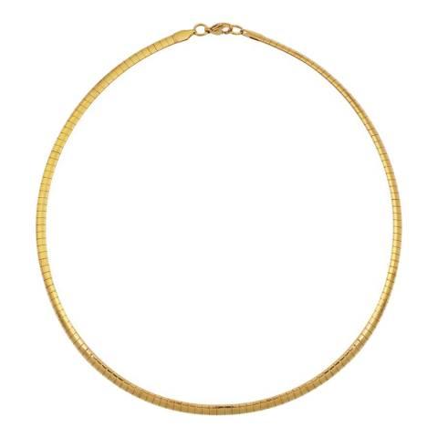 Liv Oliver 18K Gold Plated Omega Necklace