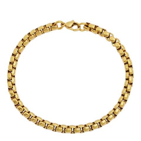 Stephen Oliver Gold Box Link Bracelet