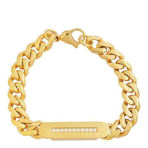 Stephen Oliver 18K Gold Plated CZ Id Bracelet