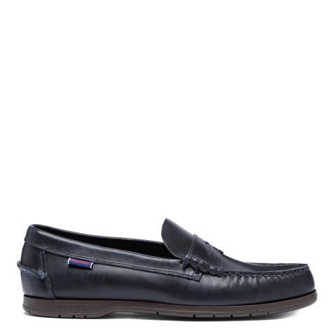 Sebago Navy Thetford Waxed Leather Loafers