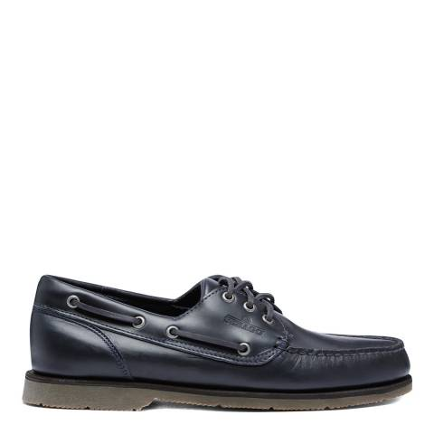 Sebago Navy Foresiders Leather Boat Shoes