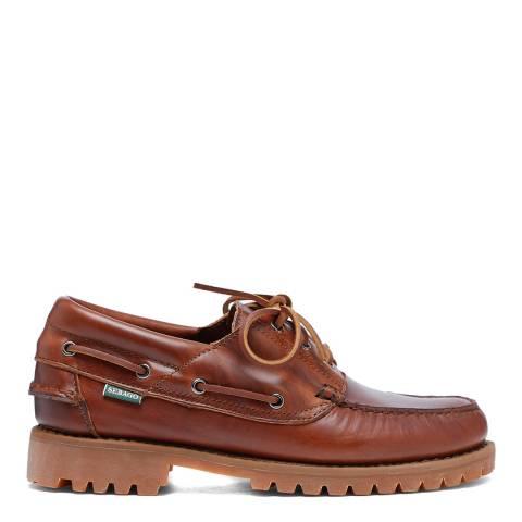 Sebago Brown Acadia Leather Boat Shoes