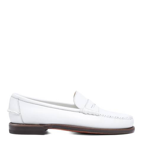 Sebago White Classic Dan Pop Leather Loafers