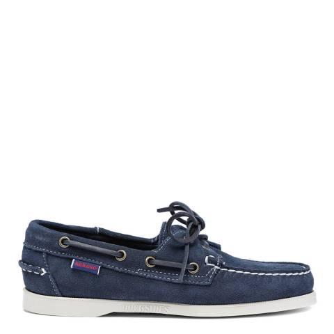 Sebago Navy Suede Dockside Portland Boat Shoes