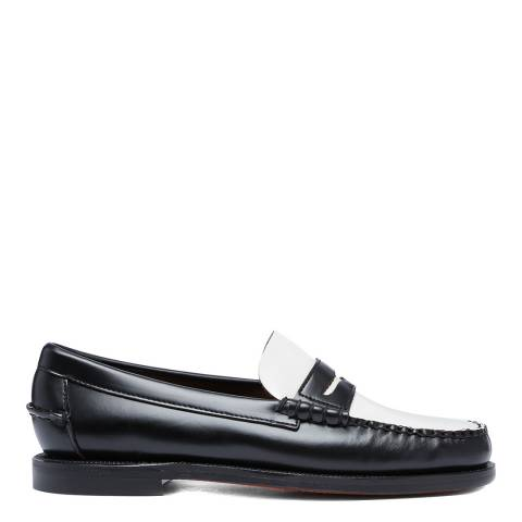 Sebago Black/White Classic Dan Leather Loafers