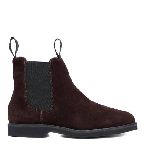 Sebago Dark Brown Suede Polaris Chelsea Boots