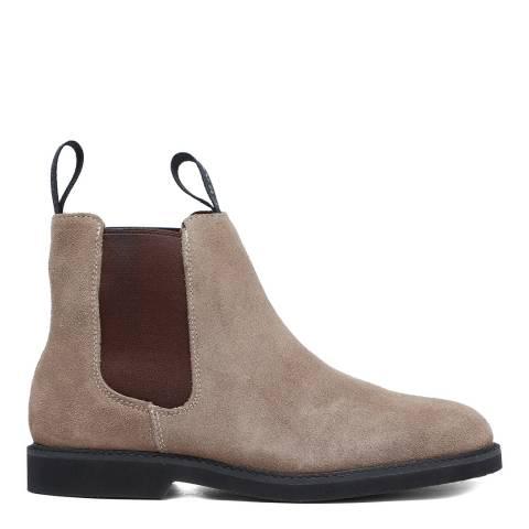 Sebago Beige Suede Polaris Chelsea Boots