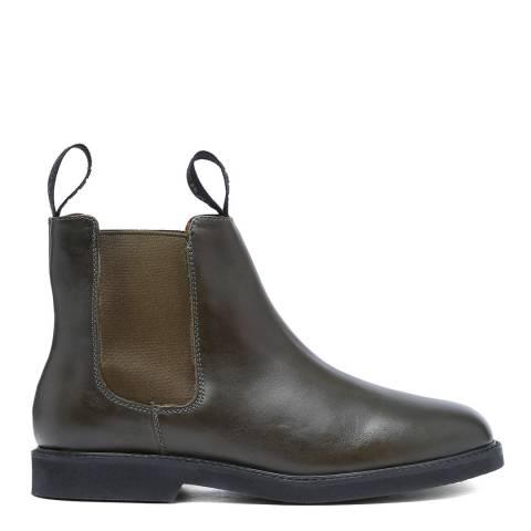 Sebago Khaki Leather Polaris Chelsea Boots