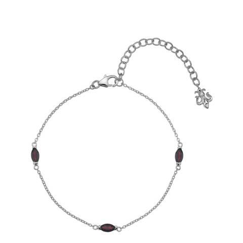 Anais Paris by Hot Diamonds Garnet Marquise Cut Bracelet