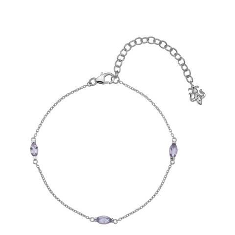 Anais Paris by Hot Diamonds Amethyst Marquise Cut Bracelet