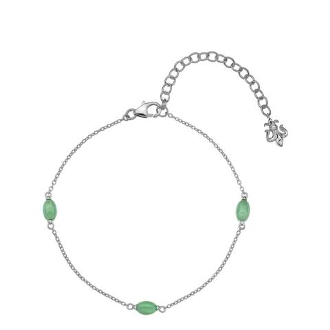 Anais Paris by Hot Diamonds Green Aventurine Oval Cabochon Cut Bracelet
