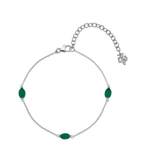 Anais Paris by Hot Diamonds Agate Oval Cabochon Cut Bracelet