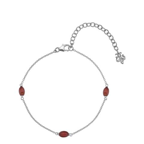 Anais Paris by Hot Diamonds Red Carnelian Oval Cabochon Cut Bracelet