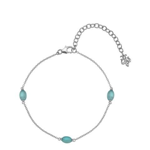 Anais Paris by Hot Diamonds Blue Agate Oval Cabochon Cut Bracelet