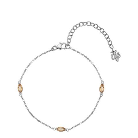 Anais Paris by Hot Diamonds Citrine Marquise Cut Bracelet