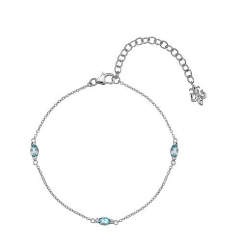 Anais Paris by Hot Diamonds Blue Topaz Marquise Cut Bracelet
