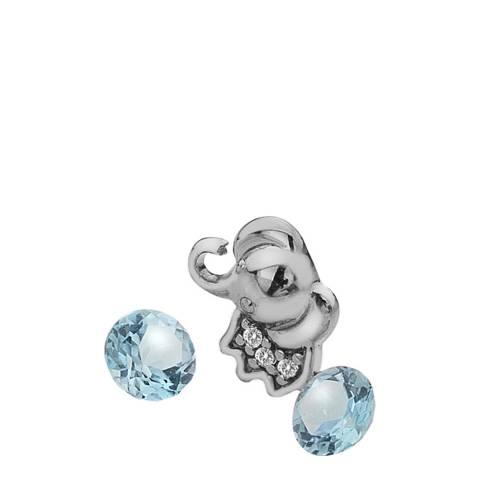 Anais Paris by Hot Diamonds Elephant Charm with Blue Topaz Cabochons