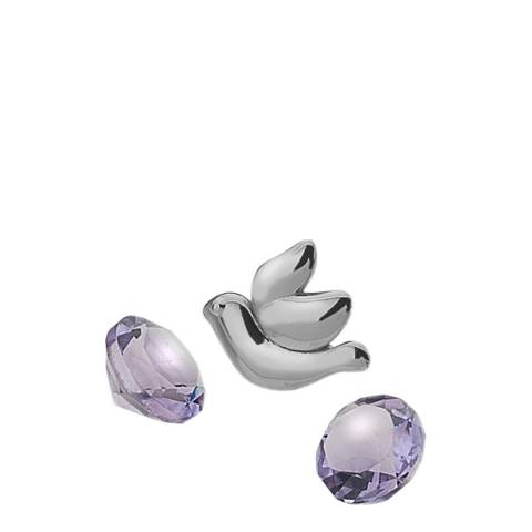 Anais Paris by Hot Diamonds Dove Charm with Amethyst Cabochons