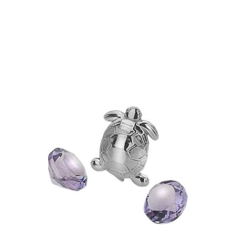 Anais Paris by Hot Diamonds Turtle Charm with Amethyst Cabochons