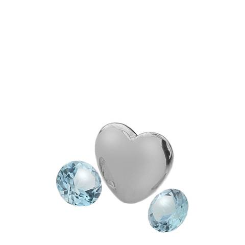 Anais Paris by Hot Diamonds December Charm with Blue Topaz Cabochons