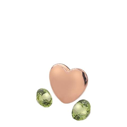 Anais Paris by Hot Diamonds Rose Gold Plated August Charm with Peridot Cabochons