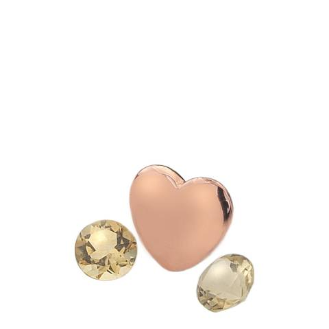 Anais Paris by Hot Diamonds Rose Gold Plated November Charm with Citrine Cabochons