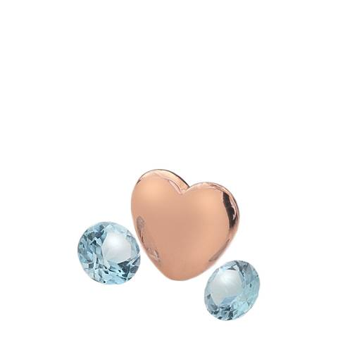 Anais Paris by Hot Diamonds Rose Gold Plated December Charm with Blue Topaz Cabochons