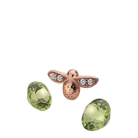 Anais Paris by Hot Diamonds Rose Gold Plated Bee Charm with Peridot Cabochons