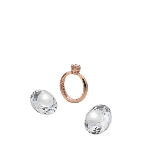 Anais Paris by Hot Diamonds Rose Gold Plated Ring Charm with White Topaz Cabochons