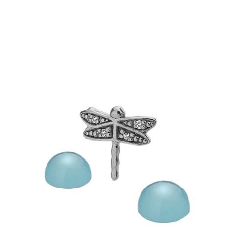 Anais Paris by Hot Diamonds Dragonfly Charm with Blue Agate Cabochons