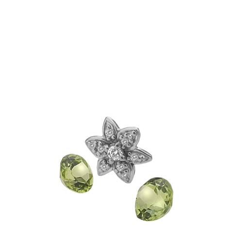 Anais Paris by Hot Diamonds Flower Charm with Peridot Cabochons