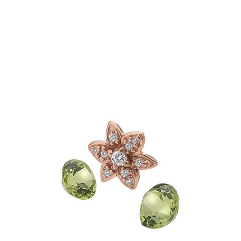 Anais Paris by Hot Diamonds Rose Gold Plated Flower Charm with Peridot Cabochons