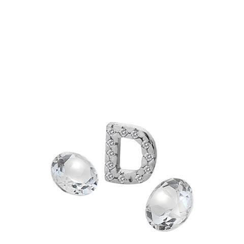 Anais Paris by Hot Diamonds Silver Letter D Charm with White Topaz Cabochons