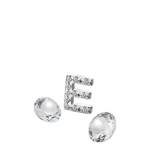 Anais Paris by Hot Diamonds Silver Letter E Charm with White Topaz Cabochons