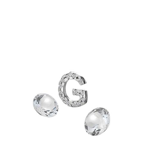 Anais Paris by Hot Diamonds Letter G Charm with White Topaz Cabochons