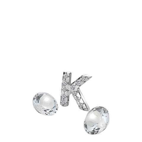 Anais Paris by Hot Diamonds Silver Letter K Charm with White Topaz Cabochons