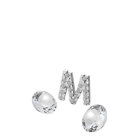 Anais Paris by Hot Diamonds Silver Letter M Charm with White Topaz Cabochons