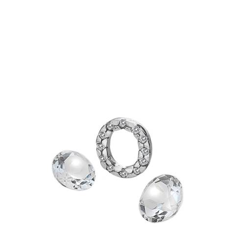 Anais Paris by Hot Diamonds Letter O Charm with White Topaz Cabochons