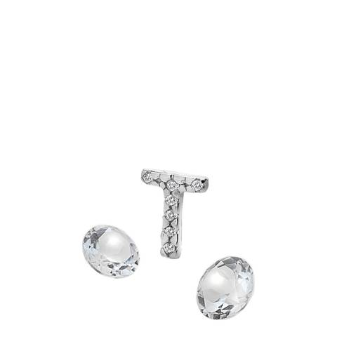 Anais Paris by Hot Diamonds Letter T Charm with White Topaz Cabochons