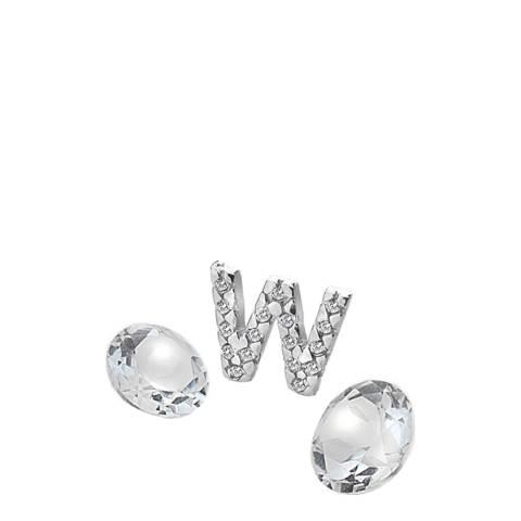 Anais Paris by Hot Diamonds Letter W Charm with White Topaz Cabochons