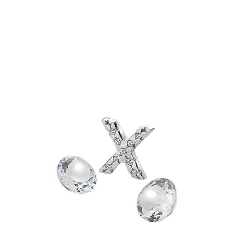 Anais Paris by Hot Diamonds Silver Letter X Charm with White Topaz Cabochons