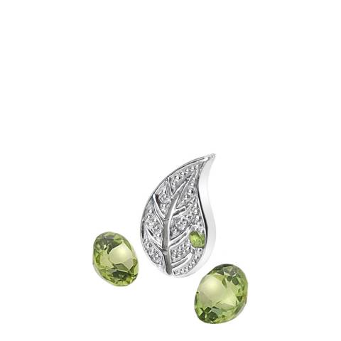 Anais Paris by Hot Diamonds Earth Silver Charm and Peridot stones