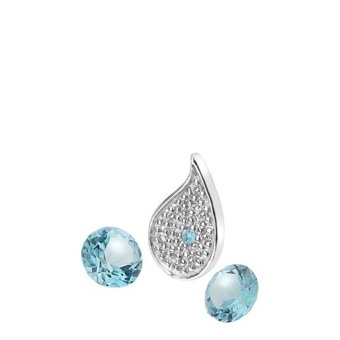 Anais Paris by Hot Diamonds Silver Blue Topaz Stones Water Silver Charm