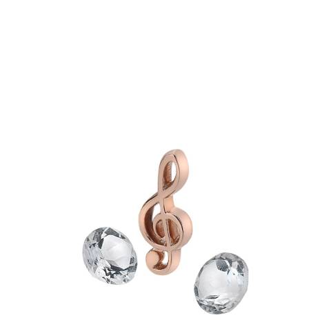 Anais Paris by Hot Diamonds Treble Clef Charm - Rose Gold Plate with White Topaz Stones
