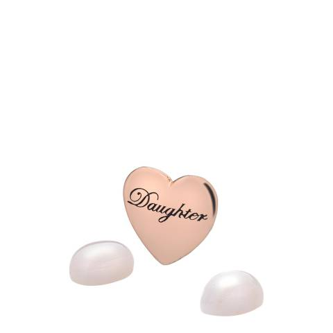 Anais Paris by Hot Diamonds Daughter Charm - Rose Gold Plate with Rose Quartz Stones