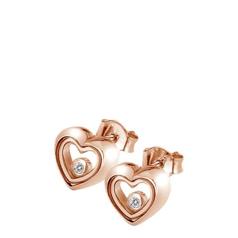 Anais Paris by Hot Diamonds Anais Floating Heart Earrings - Rose Gold Plate