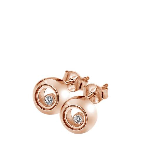 Anais Paris by Hot Diamonds Rose Gold Floating Circle Earrings