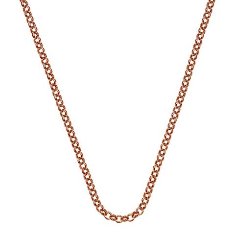 Anais Paris by Hot Diamonds Rose Gold Plated Sterling Silver Belcher Chain 18""
